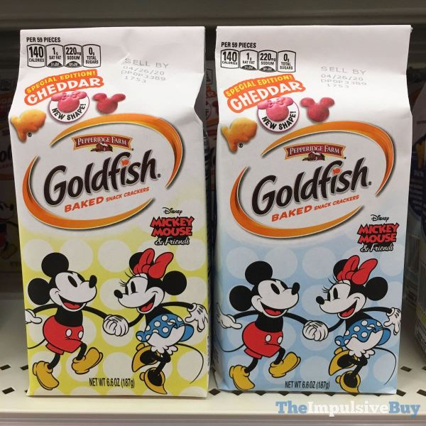 Pepperidge Farm Goldfish Special Edition Cheddar with Minnie Mouse Shape