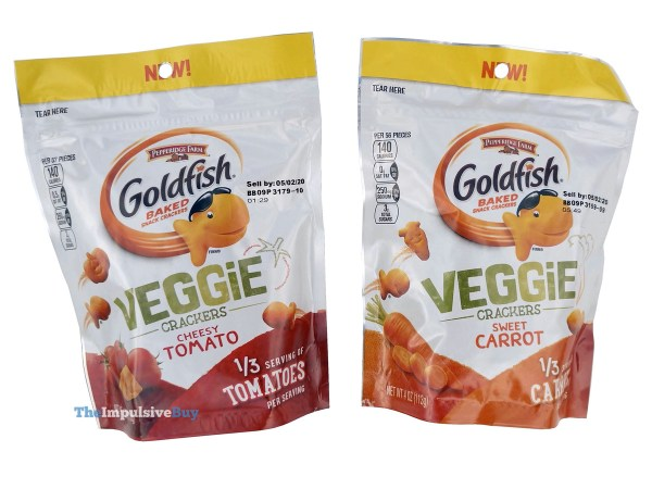 Pepperidge Farm Veggie Crackers  Cheesy Tomato and Sweet Carrot