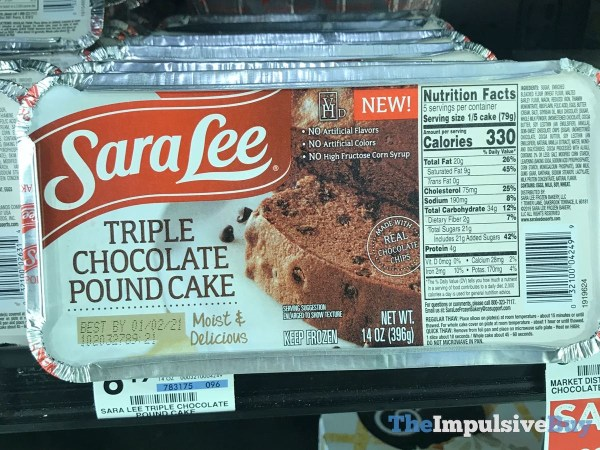 Sara Lee Triple Chocolate Pound Cake
