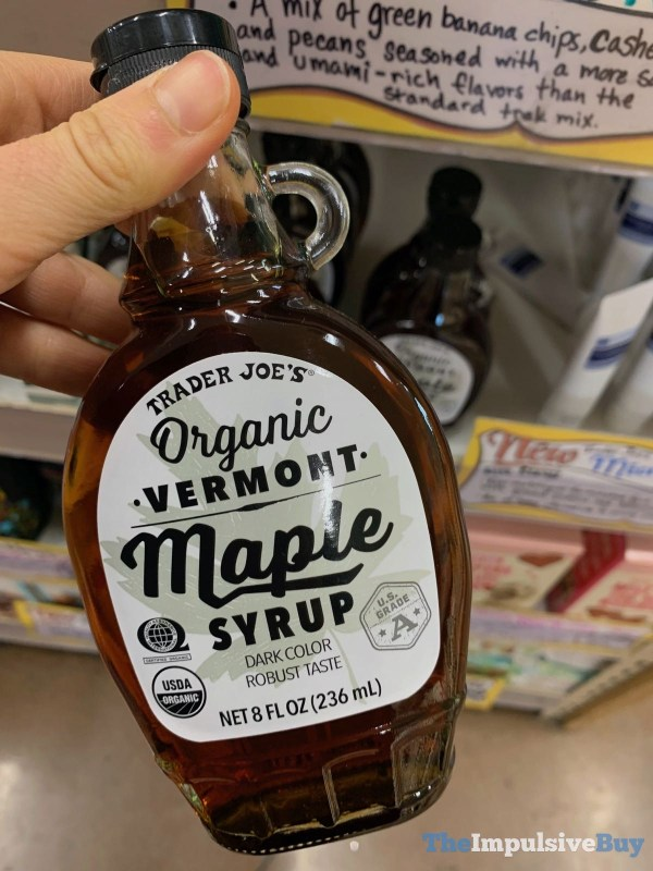 Trader Joe s Organic Vermont Maple Syrup