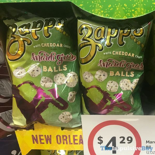 Zapp s White Cheddar Cheese Mardi Gras Balls