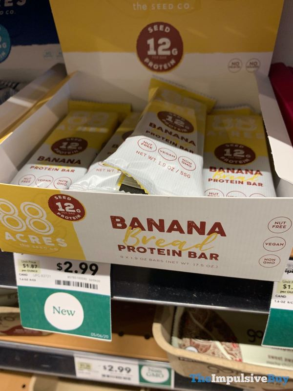88 Acres The Seed Co Banana Bread Protein Bar