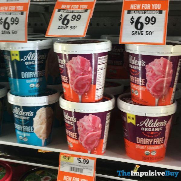 Alden s Organic Dairy Free Frozen Dessert  Vanilla Bean and Double Strawberry