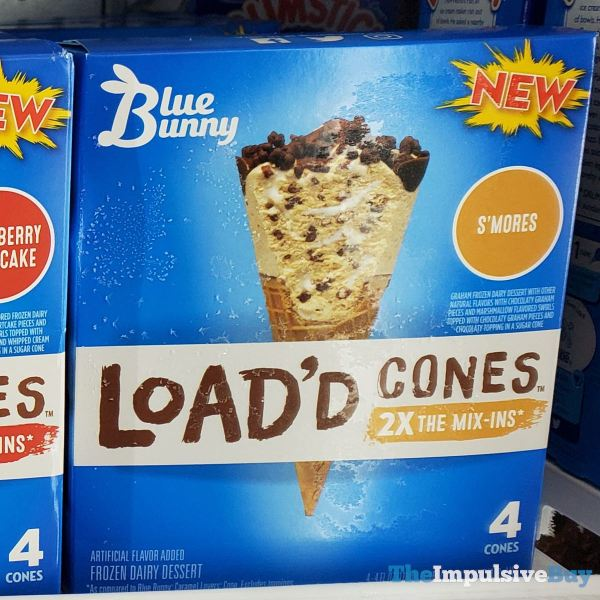 Blue Bunny Load d Cones S mores