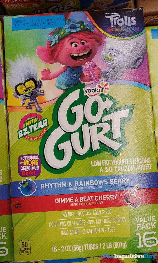 DreamWorks Trolls World Tour Yoplait Go Gurt