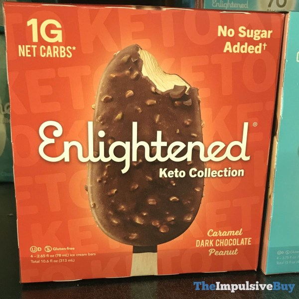 Enlightened Keto Collection Caramel Dark Chocolate Peanut Bars
