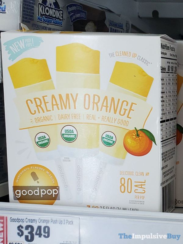Goodpop Creamy Orange Push Up Pops