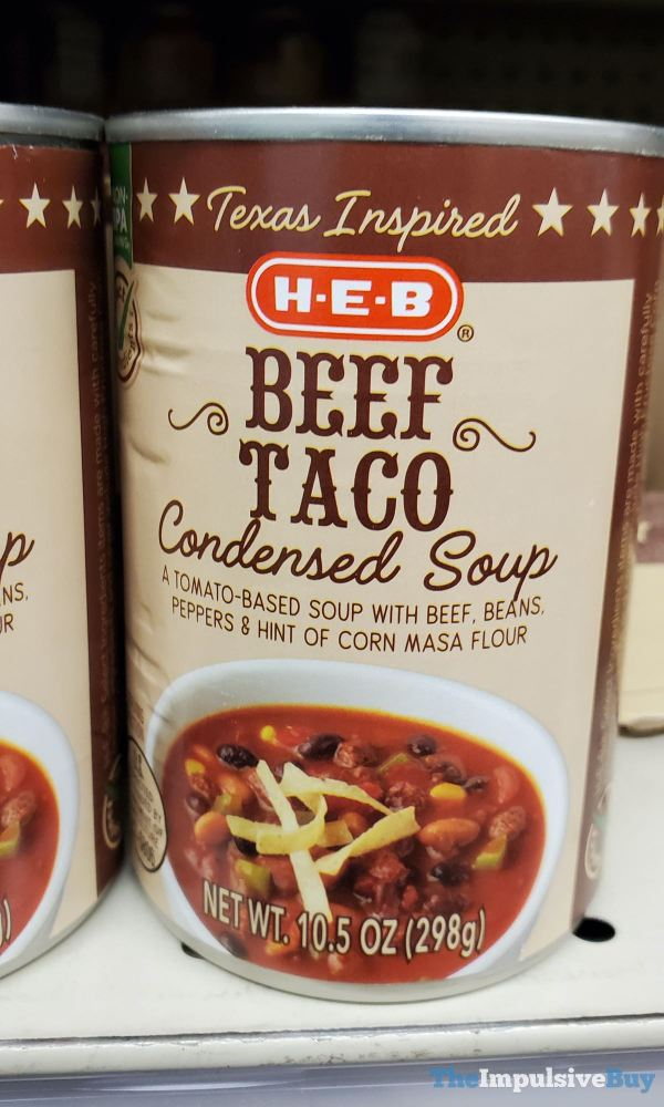 H E B Texas Inspired Beef Taco Condensed Soup