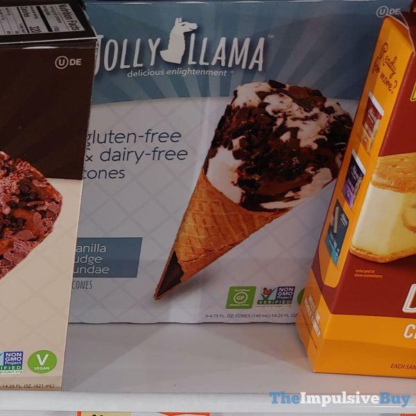 Jolly Llama Vanilla Fudge Sundae Gluten Free  Dairy Free Cones