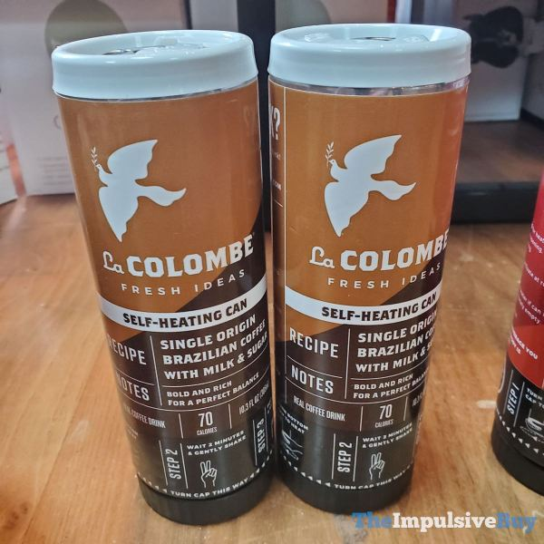 La Colombe Fresh Ideas Single Origina Brazilian Coffee with Milk  Sugar Self Heating Can