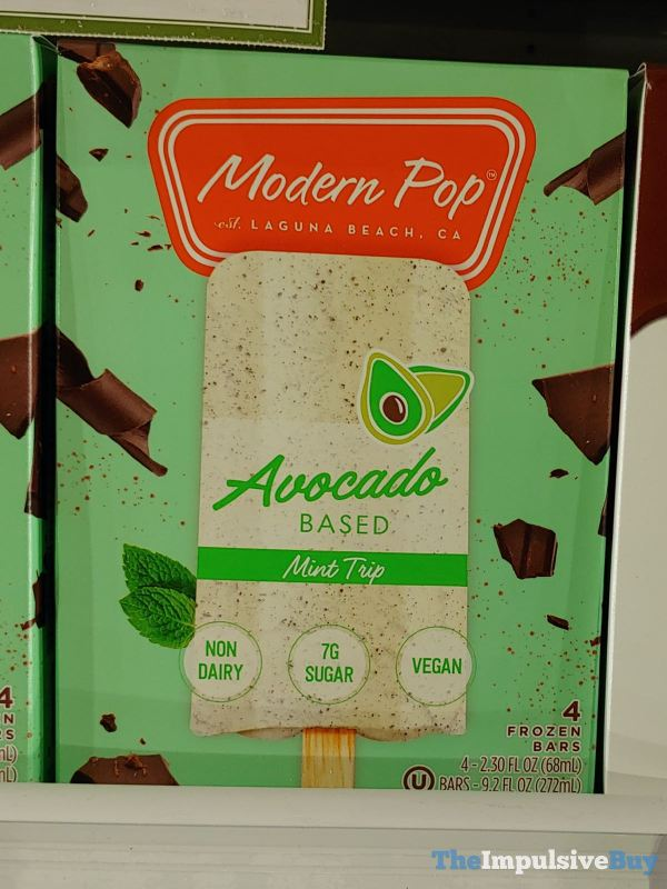 Modern Pop Avocado Based Mint Trip Frozen Dessert Bars
