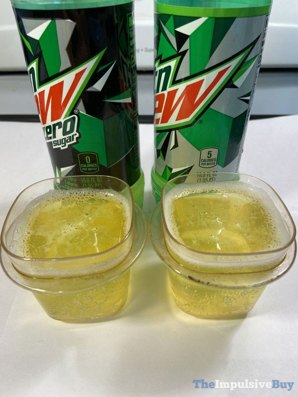 Mountain Dew Zero Sugar Comparison