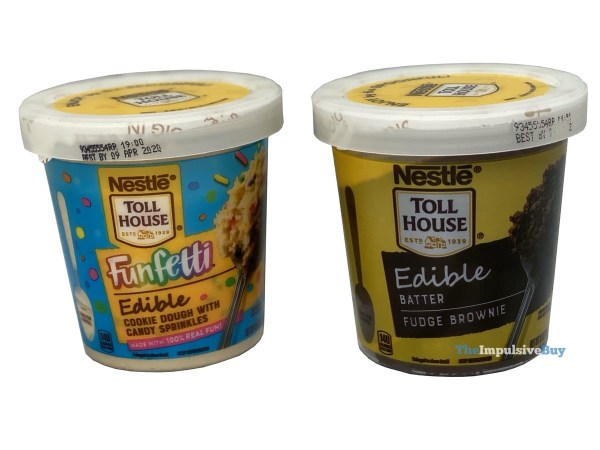 Nestle Toll House Funfetti Edible Cookie Dough and Edible Fudge Brownie Batter