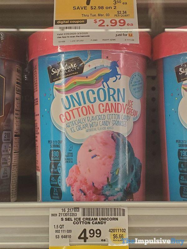 Signature Select Unicorn Cotton Candy Ice Cream