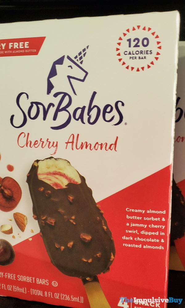 SorBabes Cherry Almond Dairy Free Sorbet Bars