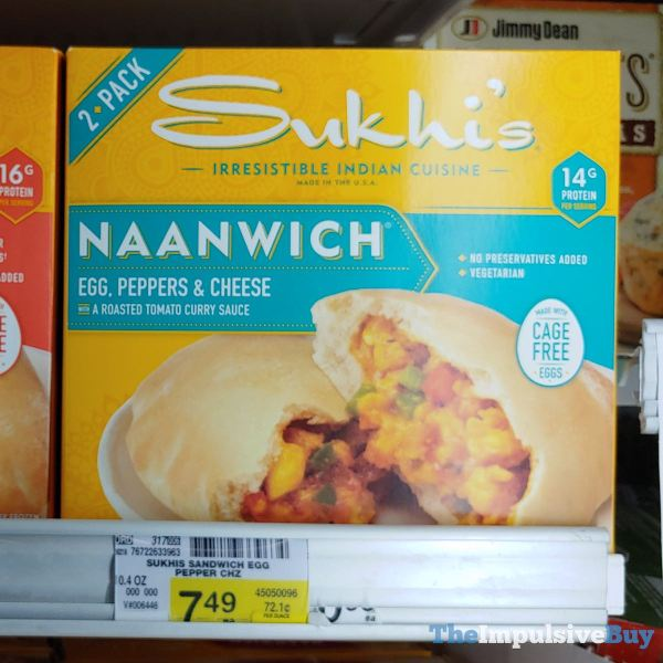 Sukhi s Naanwich Egg Peppers  Cheese