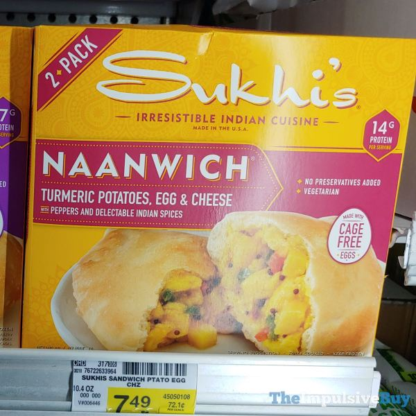 Sukhi s Naanwich Turmeric Potatoes Egg  Cheese