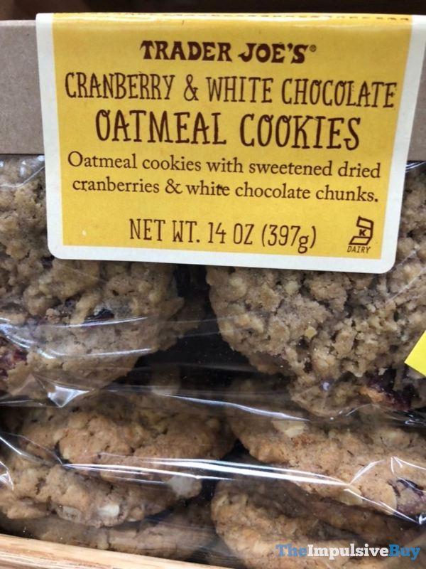 Trader Joe s Cranberry  White Chocolate Oatmeal Cookies