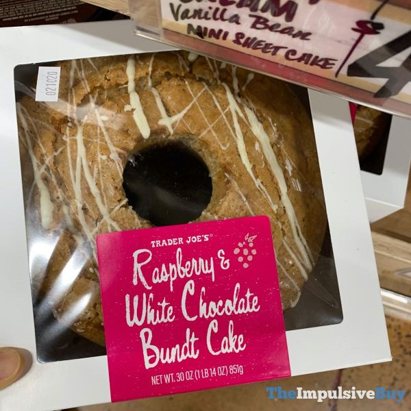 Trader Joe s Raspberry  White Chocolate Bundt Cake