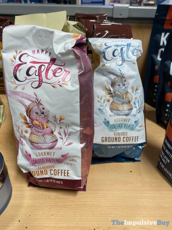 Happy Easter Gourmet Toasted Hazelnut and Italian roast Flavored Ground Coffee