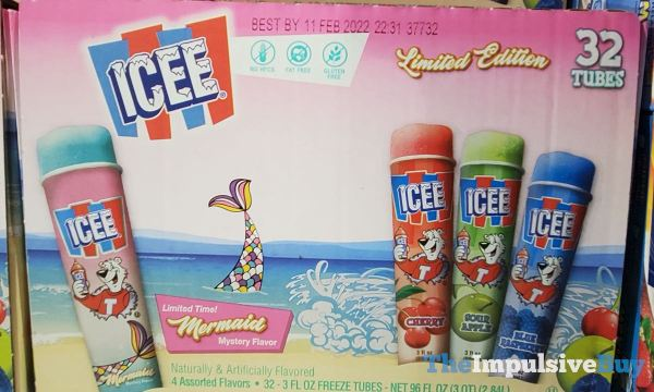 ICEE Limited Edition Freeze Tubes Variety Pack with Mermaid Mystery Flavor