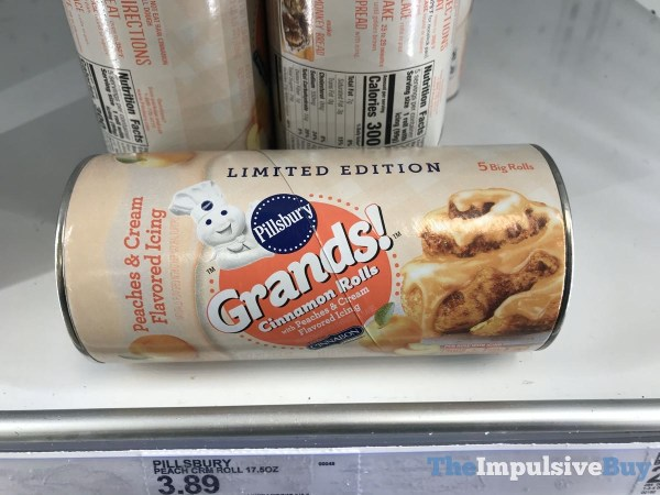 Limited Edition Pillsbury Grands Cinnamon Rolls with Peach  Cream Icing