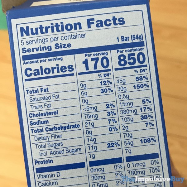 Nestle Drumstick Crushed It Cookies  N Cream Bars Coating Nutrition Facts