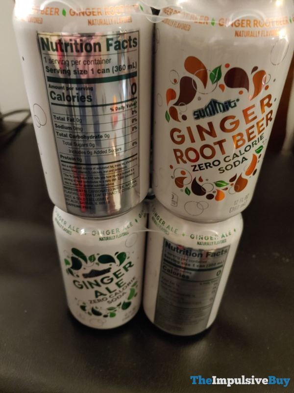 Summit Ginger Root Beer and Ginger Ale Zero Calorie Soda