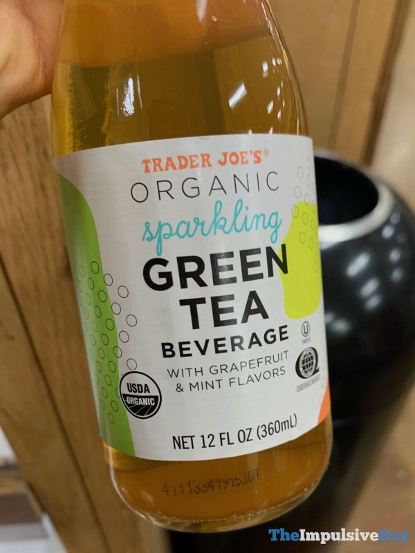 Trader Joe s Organic Sparkling Green Tea Beverage with Grapefruit  Mint Flavors