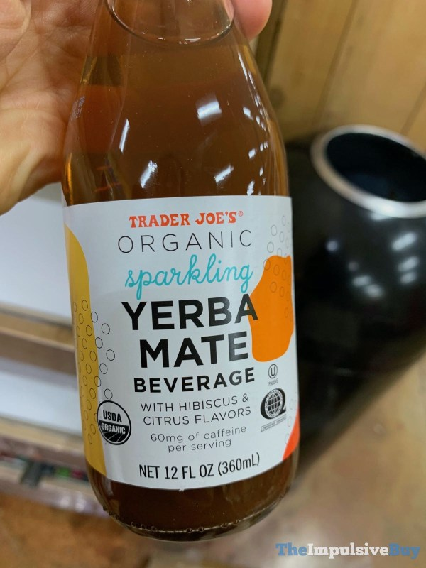 Trader Joe s Organic Sparkling Yerba Mate Beverage with Hibiscus  Citrus Flavors
