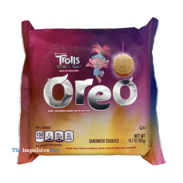 Trolls World Tour Oreo Cookies with Pink Creme and Glitter