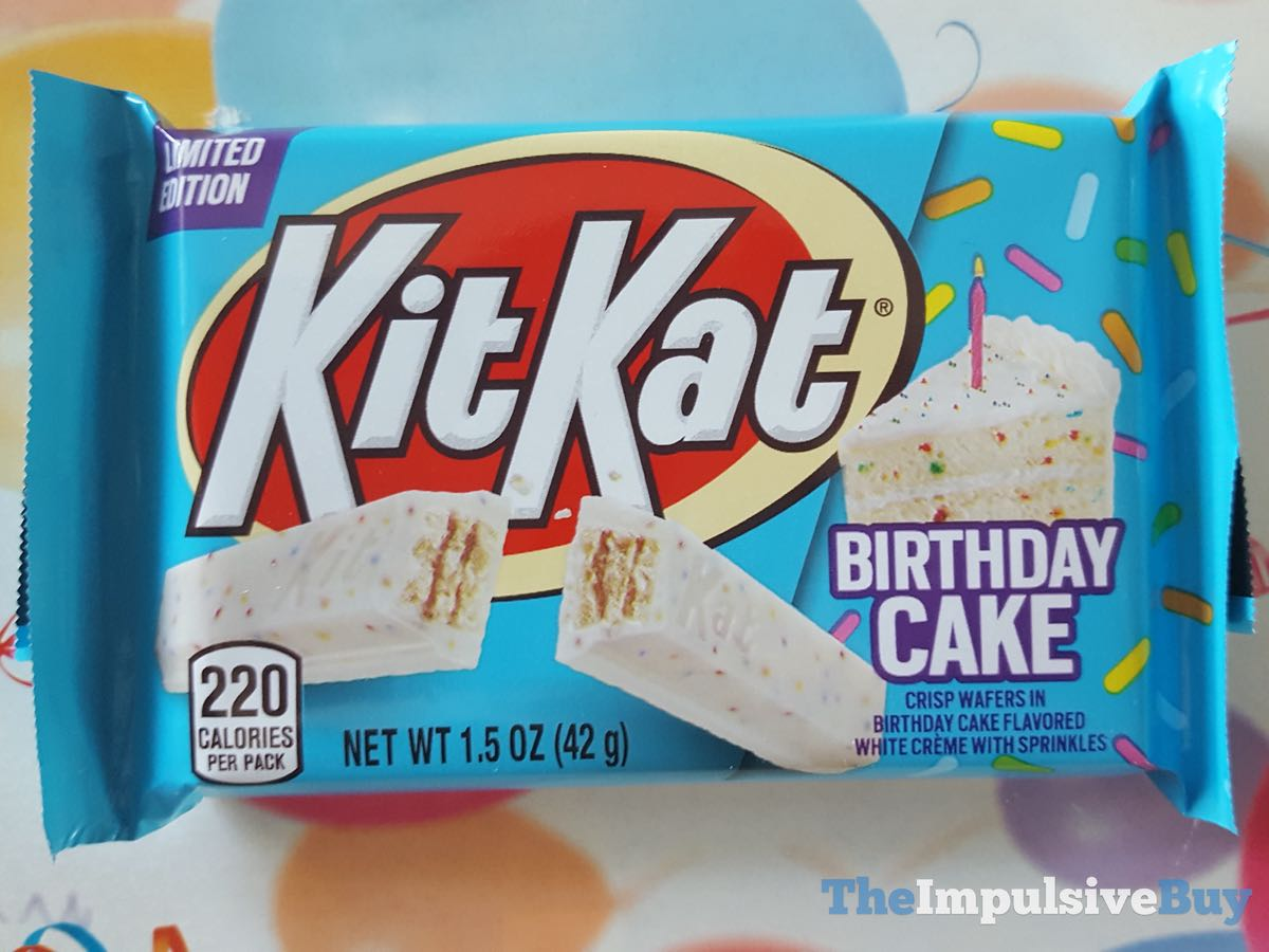 Brilliant Review Birthday Cake Kit Kat The Impulsive Buy Funny Birthday Cards Online Alyptdamsfinfo