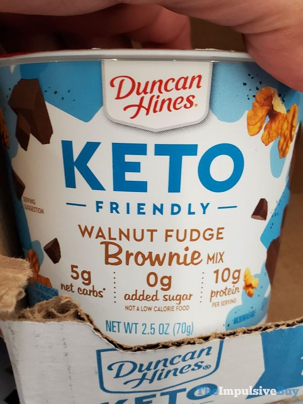 Duncan Hines Keto Friendly Walnut Fudge Brownie Mix