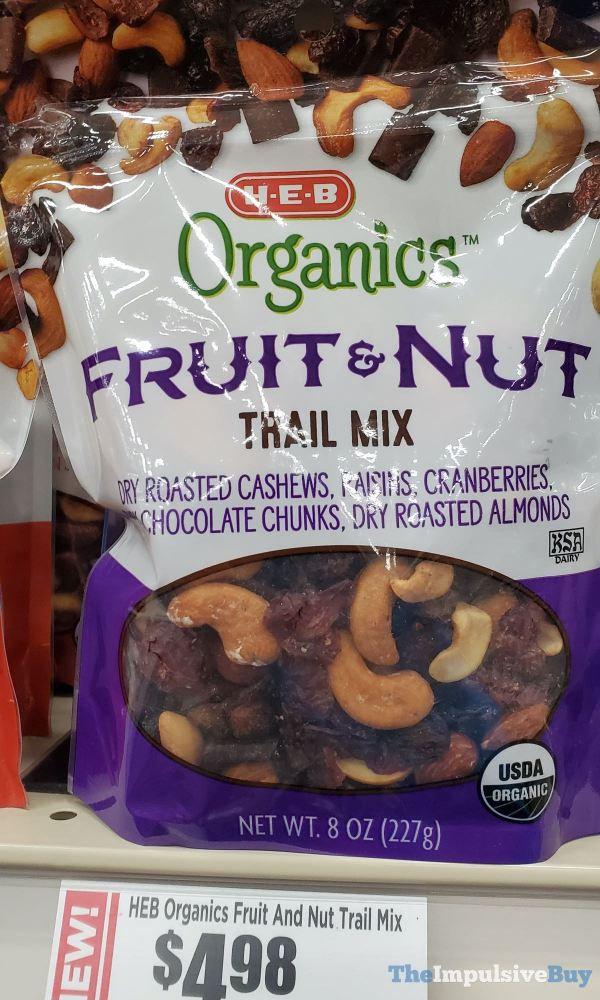 H E B Organics Fruit  Nut Trail Mix