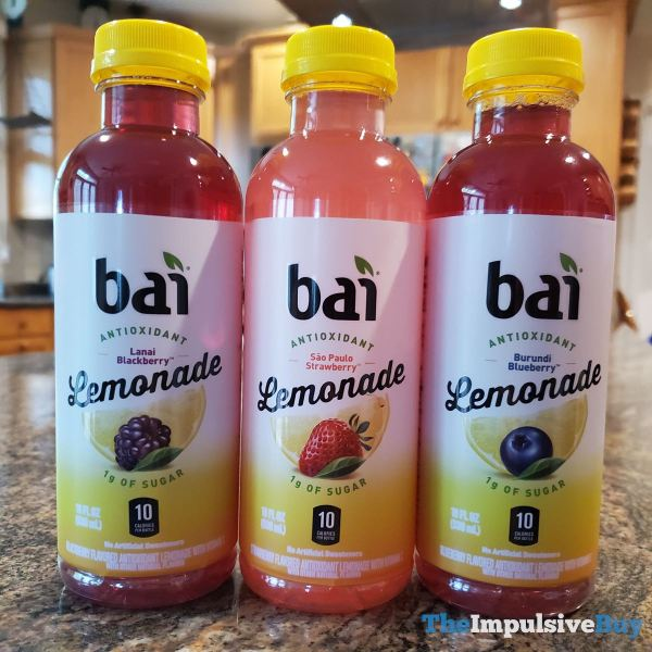 Bai Lemonade  Lanai Blackberry Sao Paulo Strawberry and Burundi Blueberry