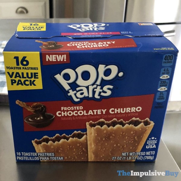 Frosted Chocolatey Churro Pop Tarts