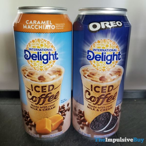 International Delight Canned Iced Coffee  Caramel Macchiato and Oreo