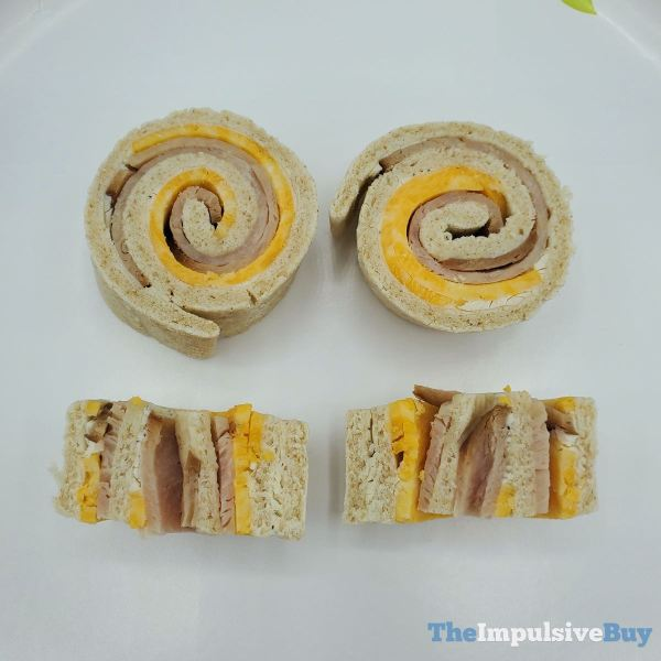 Smucker s Uncrustables Turkey  Colby Jack Roll Ups Closeup