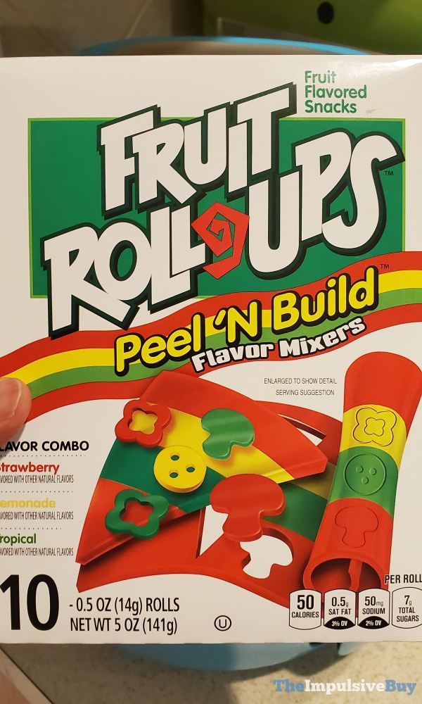 Fruit Roll Ups Peel  N Build Flavor Mixers