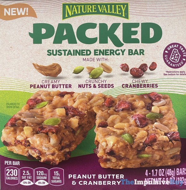 Nature Valley Peanut Butter  Cranberrry Sustained Energy Bar