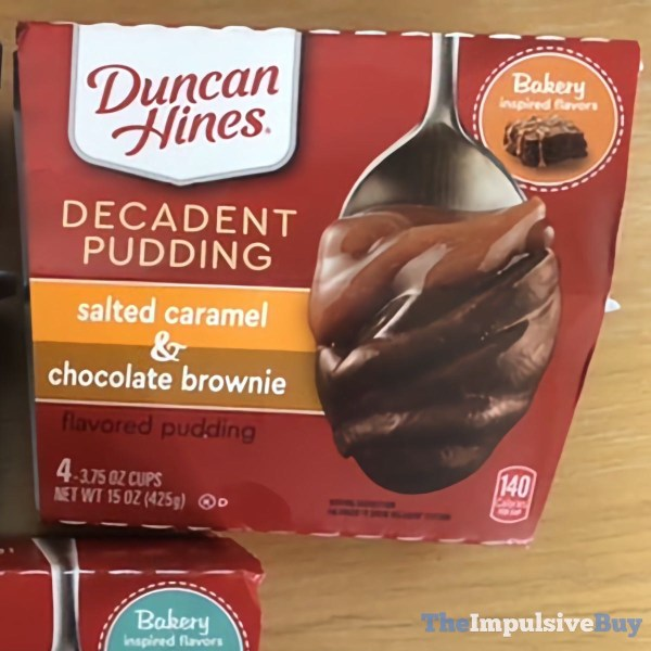 Duncan Hines Decadent Pudding Salted Caramel  Chocolate Brownie