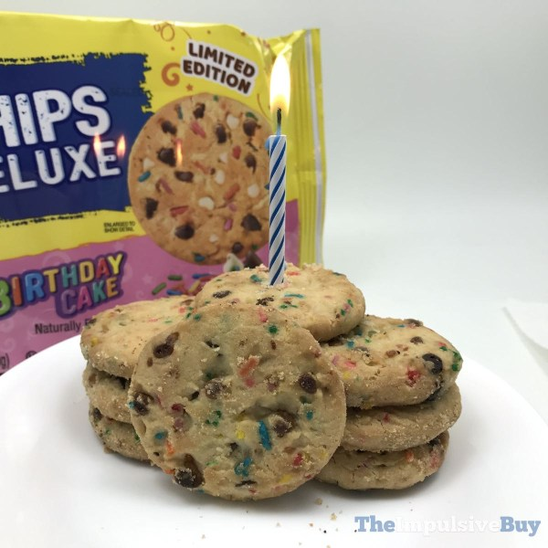 Keebler Limited Edition Birthday Cake Chips Deluxe Cookies Candle
