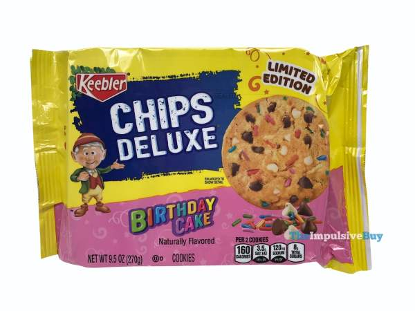 Keebler Limited Edition Birthday Cake Chips Deluxe Cookies Package