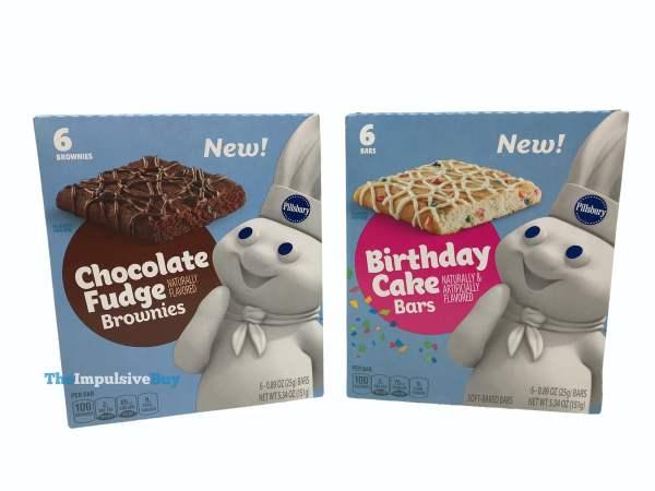 Pillsbury Chocolate Fudge Brownies and Birthday Cake Bars Boxes