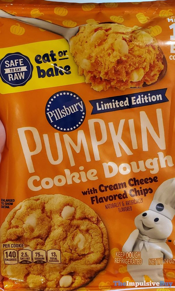 Pillsbury Limited Edition Safe to Eat Raw Pumpkin Cookie Dough