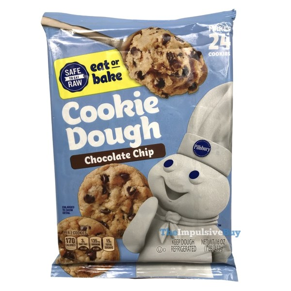 Pillsbury Safe to Eat Raw Chocolate Chip Cookie Dough Package