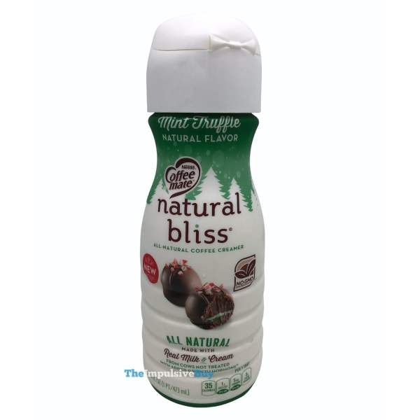 Nestle Coffee mate Natural Bliss Mint Truffle Creamer Bottle
