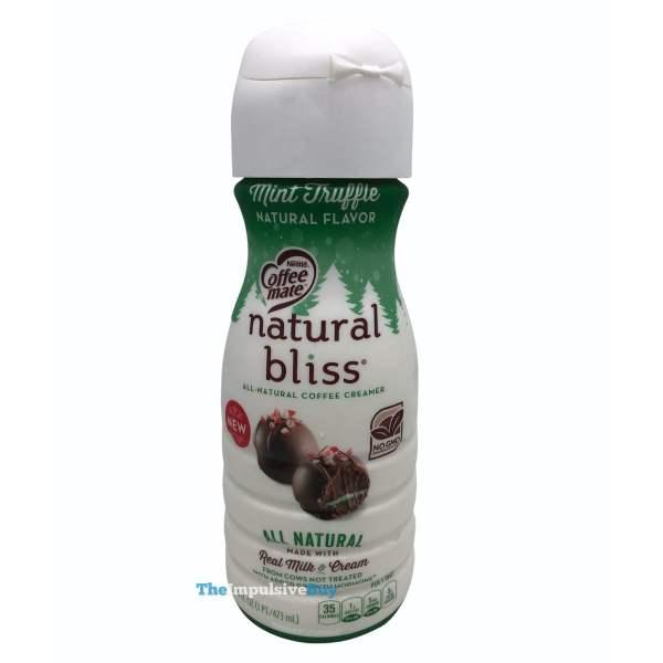 Nestle Coffee mate Natural Bliss Mint Truffle Creamer Bottle