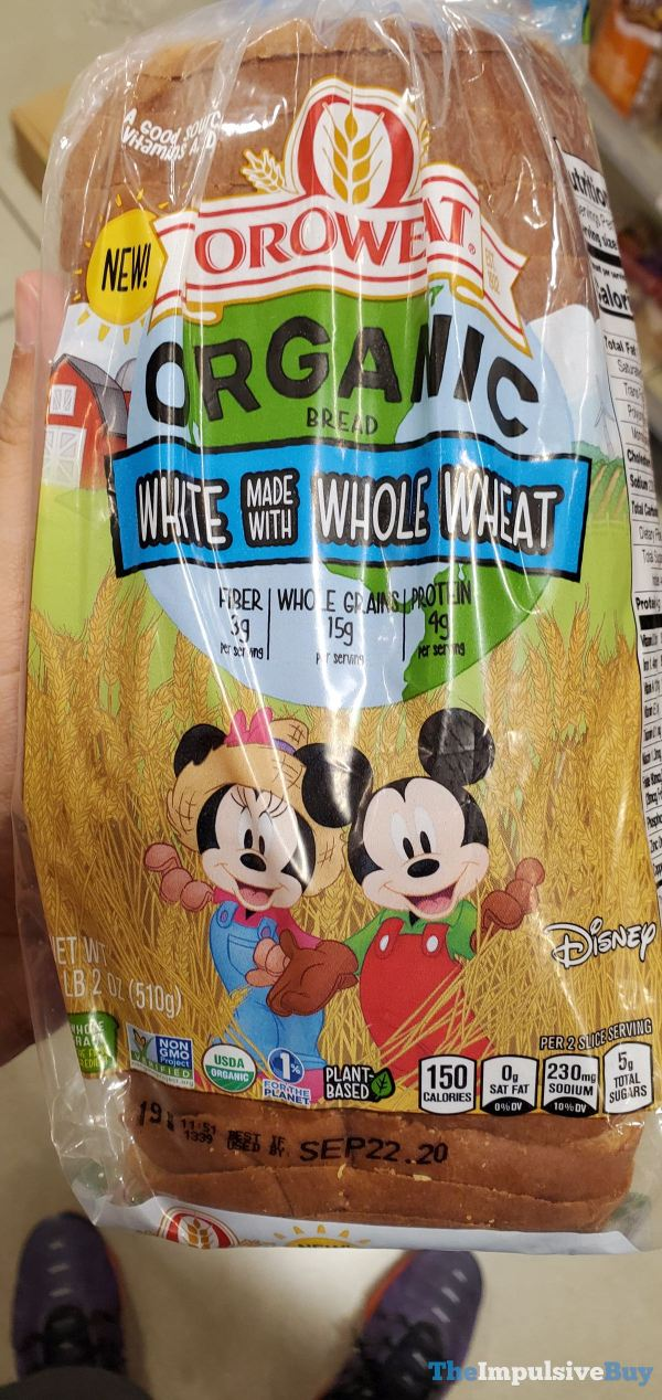 Oroweat Disney Organic White made with Whole Wheat Bread