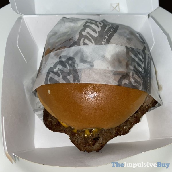 Carl s Jr Prime Rib  Cheddar Angus Thickburger Clothed